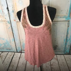 Miss Me Pink Tank Top size Small